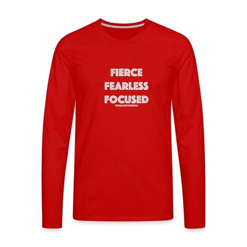 Fierce, Fearless, Focused Off The Shoulder Shirt - Men's Premium Long Sleeve T-Shirt