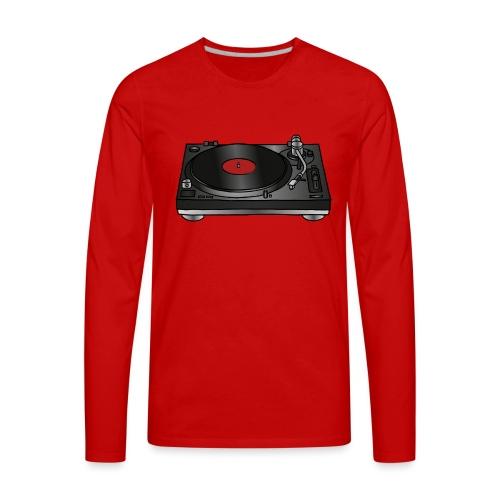 Record player, turntable - Men's Premium Long Sleeve T-Shirt