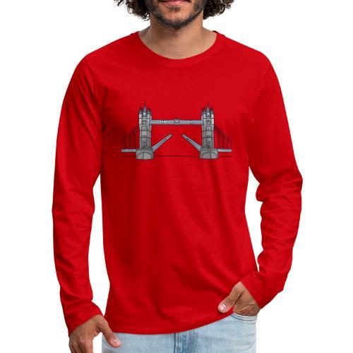London tower bridge, landmark of London UK - Men's Premium Long Sleeve T-Shirt