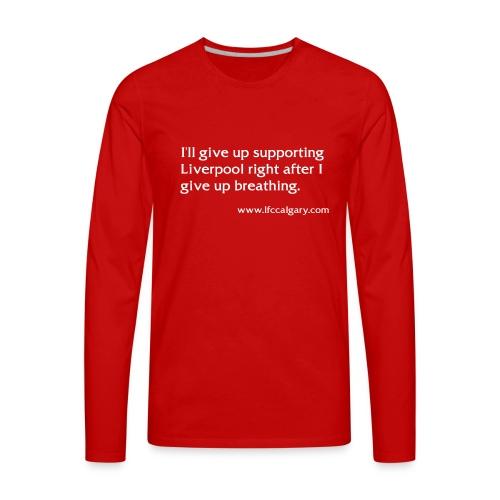 breathing white - Men's Premium Long Sleeve T-Shirt