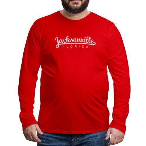 Jacksonville, Florida (Vintage White) - Men's Premium Long Sleeve T-Shirt