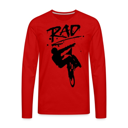 RAD BMX Bike Graffiti 80s Movie Radical Shirts - Men's Premium Long Sleeve T-Shirt