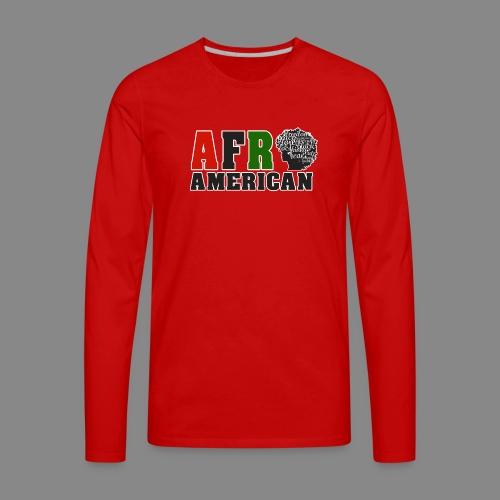 Afro American RBG - Men's Premium Long Sleeve T-Shirt