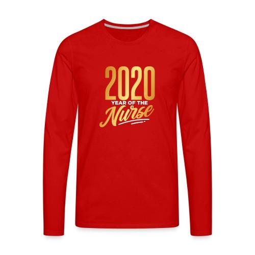 2020 YEAR OF THE NURSE - Men's Premium Long Sleeve T-Shirt