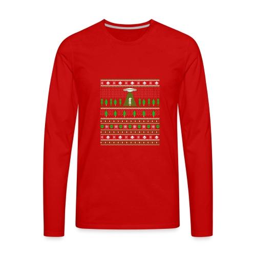 UFO ALIEN UGLY Noël - T-shirt Premium à manches longues pour hommes