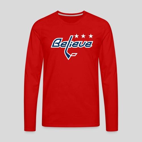 Believe Red Shirt - Men's Premium Long Sleeve T-Shirt