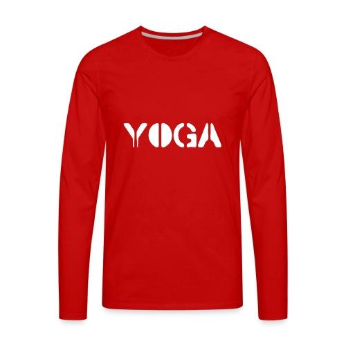 YOGA white - Men's Premium Long Sleeve T-Shirt