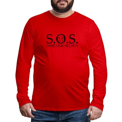 SOS Black on Black - Men's Premium Long Sleeve T-Shirt