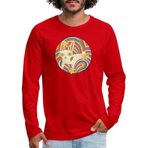 Retro White Kitty - Men's Premium Long Sleeve T-Shirt