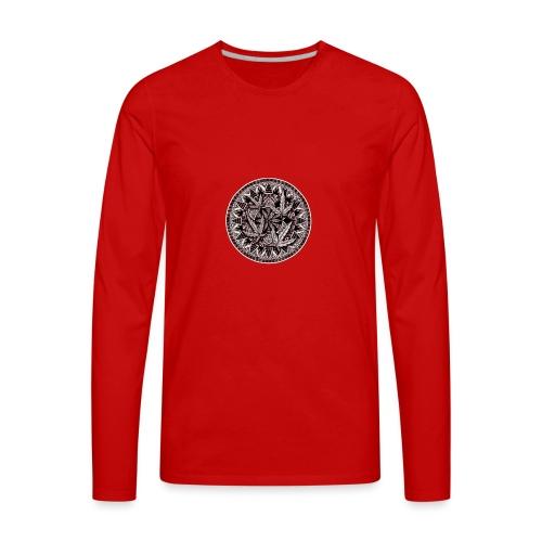 Weed Leaf Design - Men's Premium Long Sleeve T-Shirt
