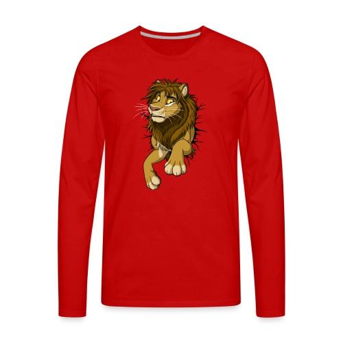 STUCK Lion (black cracks) - Men's Premium Long Sleeve T-Shirt