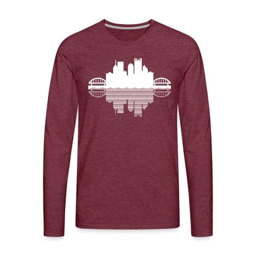 Pittsburgh Skyline Reflection - Men's Premium Long Sleeve T-Shirt