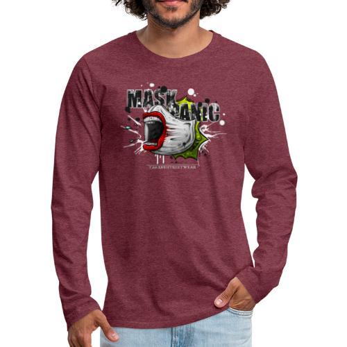 mask panic - Men's Premium Long Sleeve T-Shirt