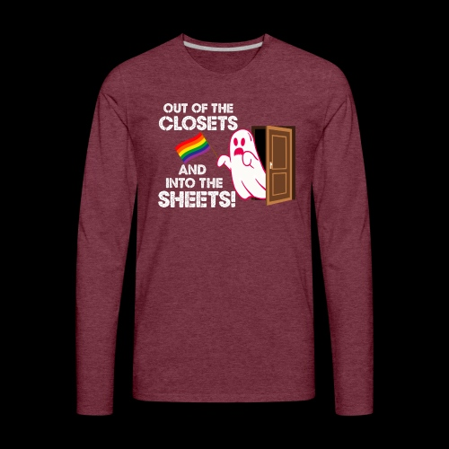 Out of the Closets Pride Ghost - Men's Premium Long Sleeve T-Shirt