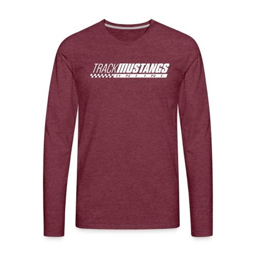 TMO Logo White - Men's Premium Long Sleeve T-Shirt