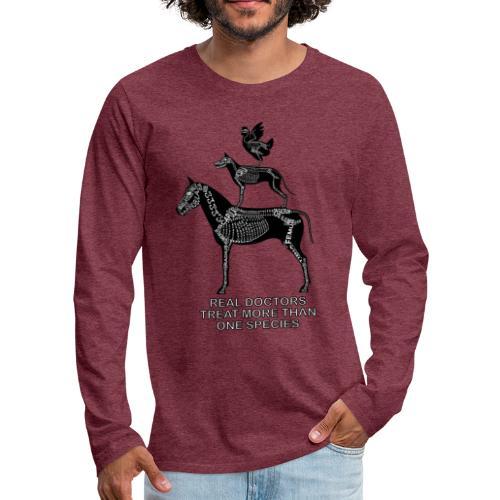 Real doctors ... Small - Men's Premium Long Sleeve T-Shirt