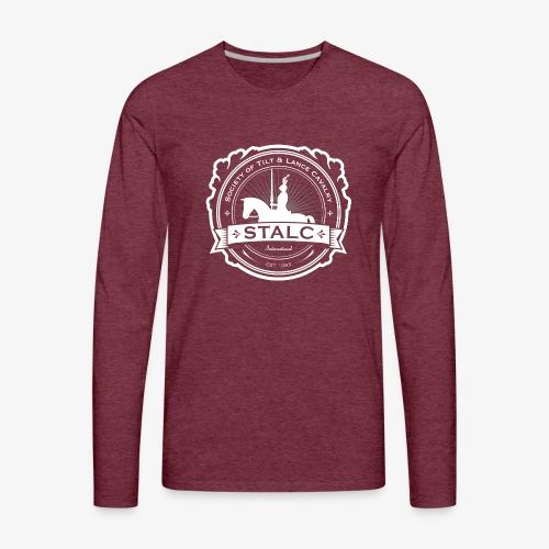 STALC Logo White only - Men's Premium Long Sleeve T-Shirt