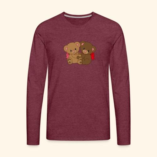 Bears Hugging - Men's Premium Long Sleeve T-Shirt