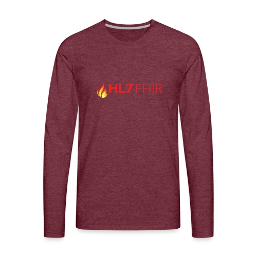 HL7 FHIR Logo - Men's Premium Long Sleeve T-Shirt