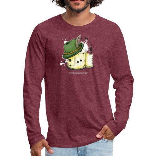 The hunter & the toilet paper - Men's Premium Long Sleeve T-Shirt