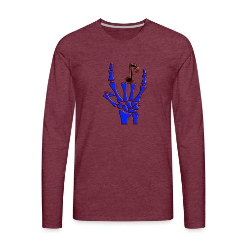 Rock on hand sign the devil's horns - Men's Premium Long Sleeve T-Shirt