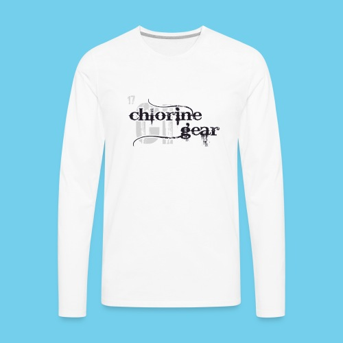 Chlorine Gear Textual stacked Periodic backdrop - Men's Premium Long Sleeve T-Shirt