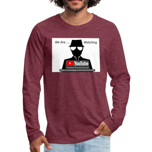 MibTheOutThereChannel v2 2019 with Crew Back Logo - Men's Premium Long Sleeve T-Shirt