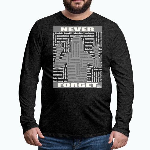 rest in paradise wht - Men's Premium Long Sleeve T-Shirt