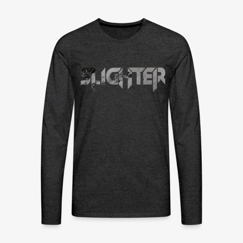 Slighter Line Glitch Logo - Men's Premium Long Sleeve T-Shirt