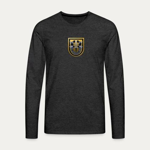 1st Special Forces MilSim Logo - Men's Premium Long Sleeve T-Shirt