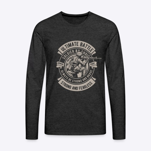 Soldier by choice - Men's Premium Long Sleeve T-Shirt