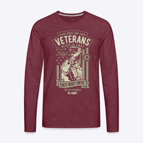 US Army Veterans - Men's Premium Long Sleeve T-Shirt