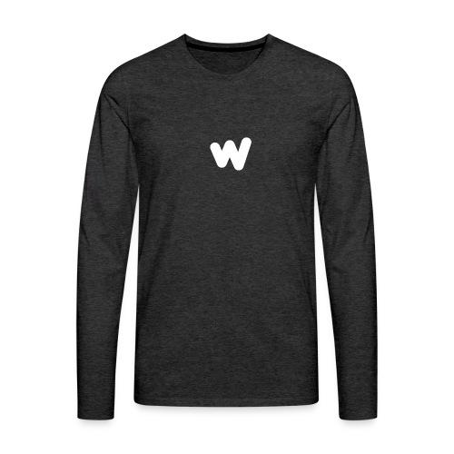 white w Small 8x - Men's Premium Long Sleeve T-Shirt