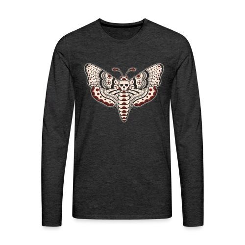 Death Head Moth Dark - Men's Premium Long Sleeve T-Shirt