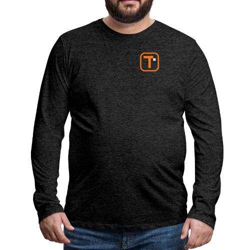 Orange Transparent Logo (Bare) - Men's Premium Long Sleeve T-Shirt