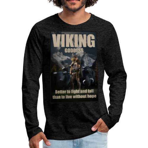 Viking Goddess - Viking warrior - Men's Premium Long Sleeve T-Shirt