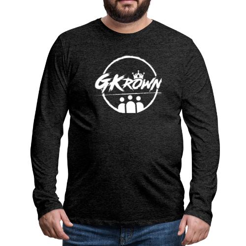 GKrown Logo White - Men's Premium Long Sleeve T-Shirt