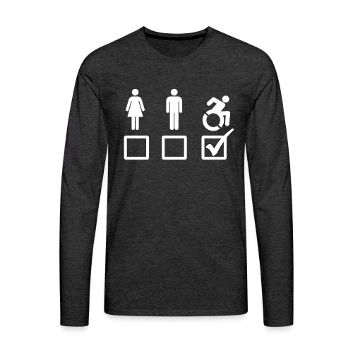 A wheelchair user is also suitable - Men's Premium Long Sleeve T-Shirt