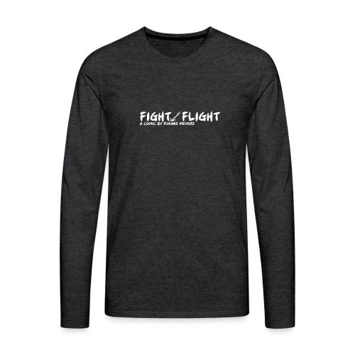 Fight/Flight Logo - Men's Premium Long Sleeve T-Shirt