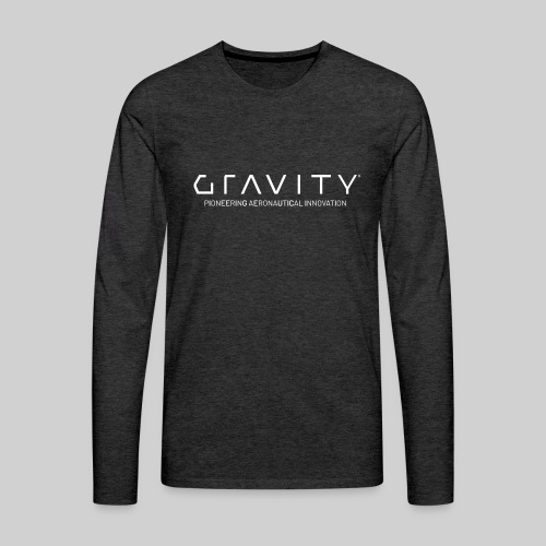 Gravity Logo with Tagline - Men's Premium Long Sleeve T-Shirt