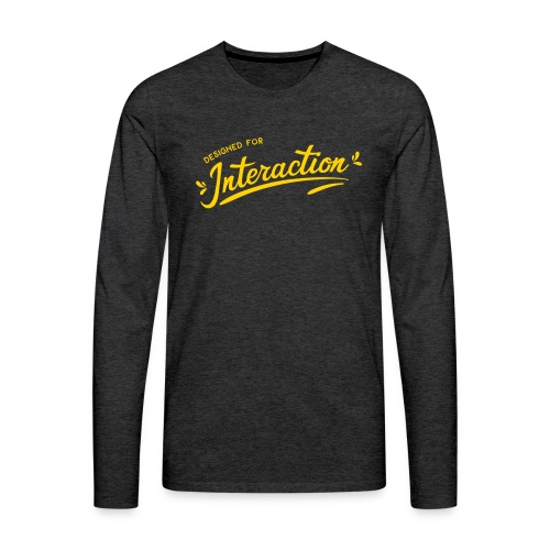 Designed for Interaction - Men's Premium Long Sleeve T-Shirt