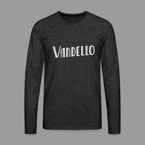 Vandello Logo-White - Men's Premium Long Sleeve T-Shirt