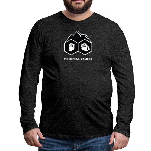 Pikes Peak Gamers Logo (Solid Black) - Men's Premium Long Sleeve T-Shirt