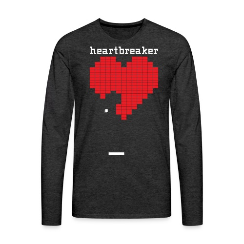 Heartbreaker Valentine's Day Game Valentine Heart - Men's Premium Long Sleeve T-Shirt