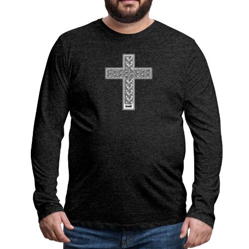 Jesus cross. I'm no longer a slave to fear. - Men's Premium Long Sleeve T-Shirt