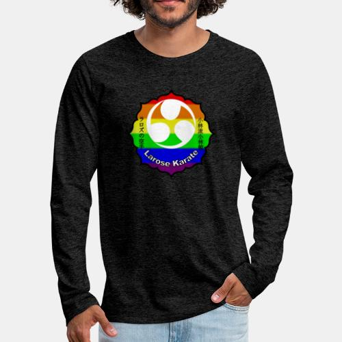 Larose Karate Rainbow Logo - Men's Premium Long Sleeve T-Shirt