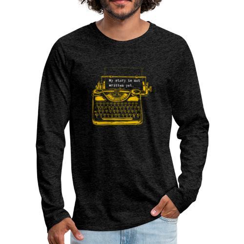 Yellow Typewriter - Men's Premium Long Sleeve T-Shirt