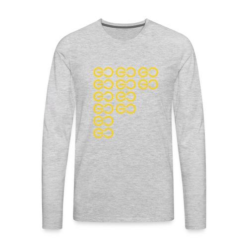 GOGOGO single colour - Men's Premium Long Sleeve T-Shirt
