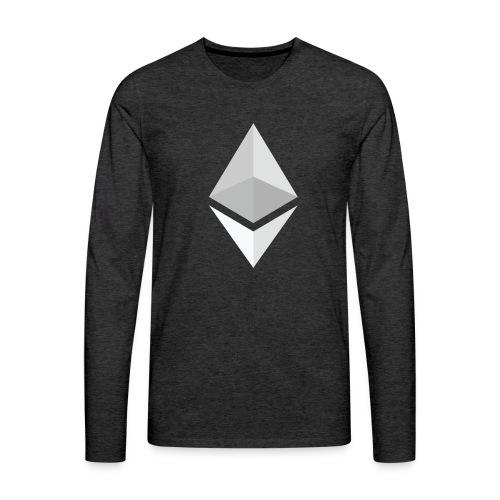 Ethereum Logo Light - Men's Premium Long Sleeve T-Shirt