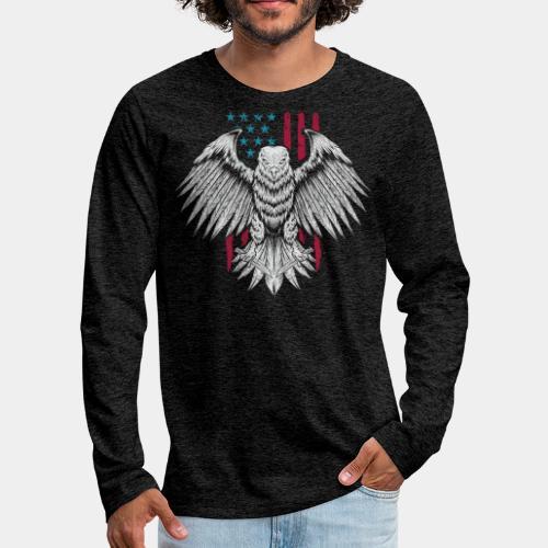 usa eagle american - Men's Premium Long Sleeve T-Shirt